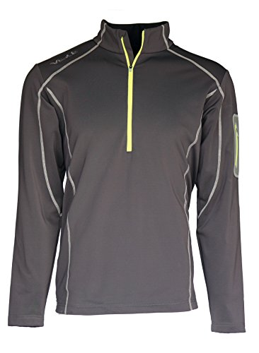 Half Zip Thermal (Volt Mens 5V Heated Thermal Half Zip Perfect For Warming Your Body's Core (Large, Grey))