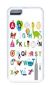 26 Letters Of The Alphabet Custom TPU White iPhone 5C Case and Cover