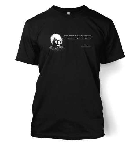 Intellectuals Solve Problems Einstein t-shirt