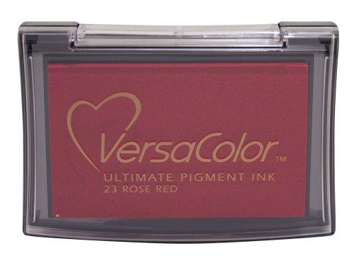 Tsukineko Full-Size VersaColor Ultimate Pigment Inkpad, Rose Red