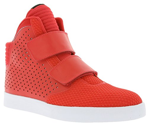 Nike Mens Flystepper 2k3 Prm Action Rosso Bianco Casual Sneaker Azione Rosso Bianco 602