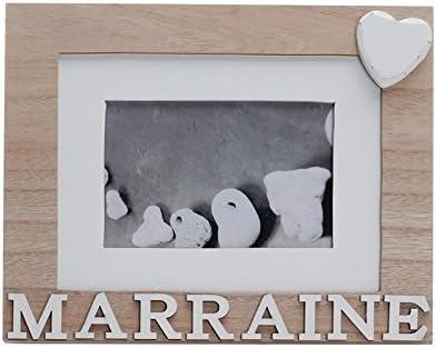 G/én/érique Cadre Marraine Naturel 22 X 18 CM