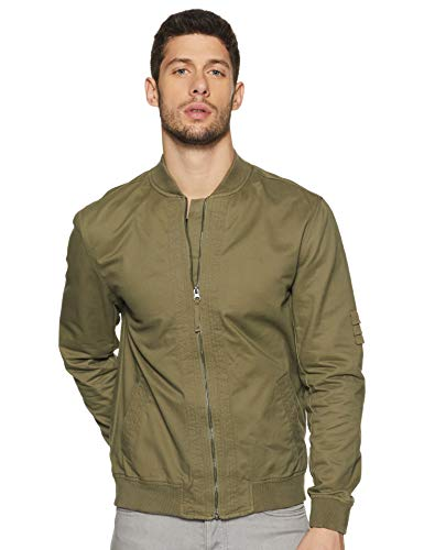 Amazon Brand – Inkast Denim Co. Men's Baseball Collar Regular Fit Cotton Lightweight Jacket