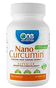 Nano Curcumin – Powerful Natural Anti-inflammatory, Antioxidant, and Pain Reliever (120 Veggie Caps)