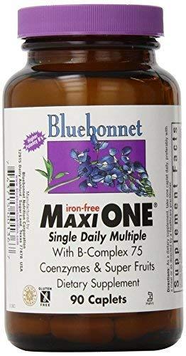 Bluebonnet Maxi One Iron Free Caplets, 90 Count by Blue Bonnet -