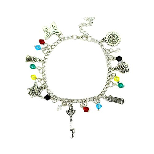 Anime Halloween Black Butler (Black Butler Charm Bracelet Quality Cosplay Jewelry Anime Manga Series with Gift)