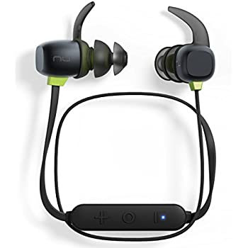 Optoma NuForce BE Sport4 Premium Wireless Sport earphones with 10h battery, sweat proof, AAC + aptX, Quick Charge, graphene drivers (BESPORT4-BLACK)