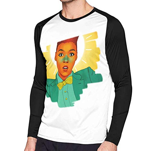 sport outdoor 003 Mens Fashion Janelle Monae Long Sleeve Raglan Baseball Tshirts -