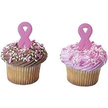 24 ~ Breast Cancer Pink Ribbons ~ Designer Cake/Cupcake Topper ~ New!!!!!