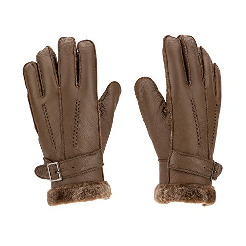- Sheepskin Gloves Men Shearling Leather Gloves Sheepskin Winter Glove for Men