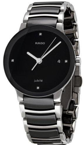 Rado R30934712 Centrix Quartz Ladies Watch - Black Dial