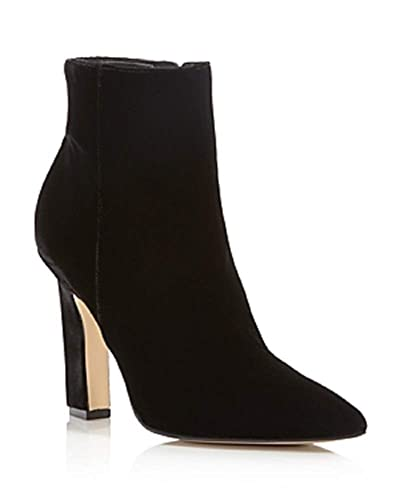 881b3122fad7c Image Unavailable. Image not available for. Color: Marc Fisher Ltd. Mayae  Womens Velvet Pointed Toe High Heel Booties Black Size 8M