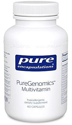 Pure Encapsulations - PureGenomics Multivitamin - Hypoallergenic Multivitamin/Mineral Complex - 60 Capsules