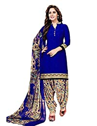 CRAFTSTRIBE Unstitch Suit Salwar Dress with Dupatta Indian Traditional Polyester Women Partywear