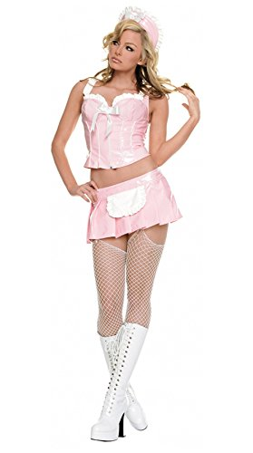 Vinyl French Maid Costume (Vinyl French Maid Costume - Medium - Dress Size)