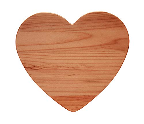 Out of the Woods of Oregon Heart 11-by-11-Inch Cutting - Cabinet Alder Set