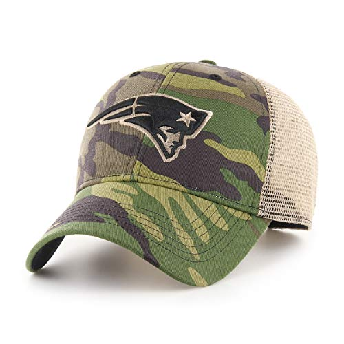 - OTS NFL New England Patriots Male Nameplate All-Star Adjustable Hat, Camo, One Size