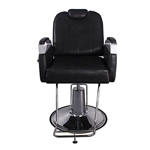 Bsalon Classic Hydraulic 360° Swivel Barber Chair Styling Hair Chair Beauty Salon Spa Equipment with Footrest, Black