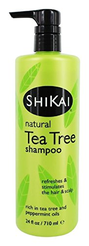 (ShiKai Natural Tea Tree Oil Shampoo, Made With Essential Oils Of Peppermint & Tea Tree To Refresh & Stimulate Hair & Scalp,24 oz)