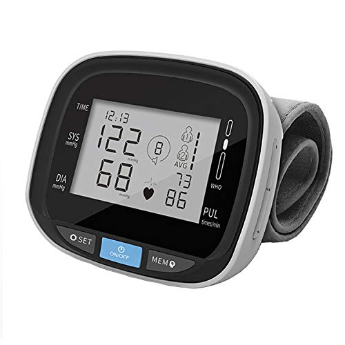 Blood Pressure Monitor with 99 Reading Memory, Professional Blood Pressure Cuff Wrist Automatic Digital BP Monitor with Large Display Screen and Voice Prompt for Home Travel, 5.3 – 7.6 Cuff Size