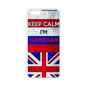 Mejor Slim bandera de Estado de Hawai Keep Calm I 'm carcasa de TPU para iPhone 6, iPhone 6para protección de impacto Super Fit (Tecnología Láser), diseño hawaiano 4,7pulgadas