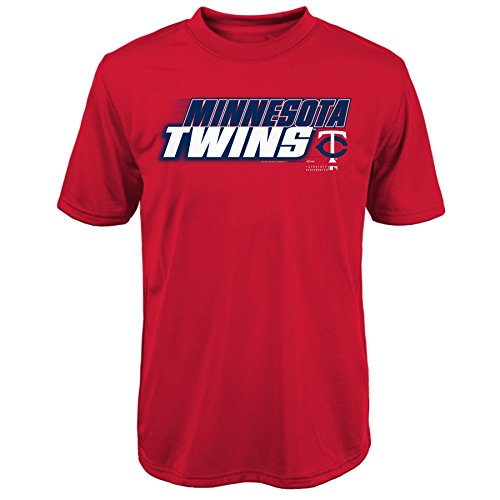 OuterStuff MLB Minnesota Twins Youth Boys 8-20 Kinetic Team & City Tee-L (14-16)