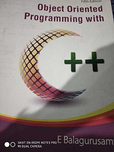 Object Oriented Programming C++ Balaguruswamy Ebook