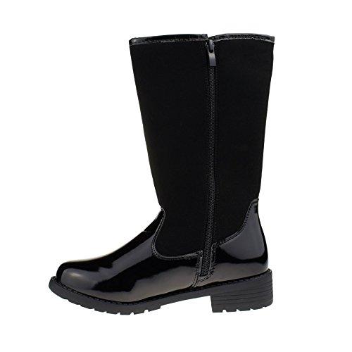 London Footwear ,  Damen Schlupfstiefel schwarzer lack
