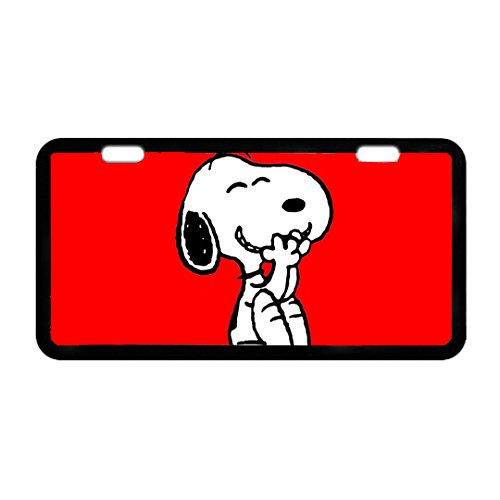 Durable Cool Metal License Plate -Snoopy (Snoopy License Plate Frame compare prices)