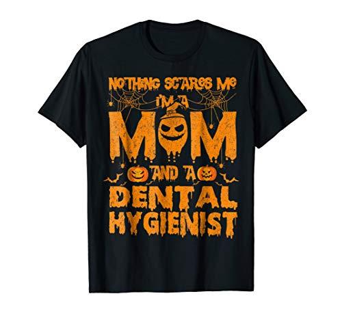 Mom And Dental Hygienist Costume Pumpkin Halloween T-shirt ()