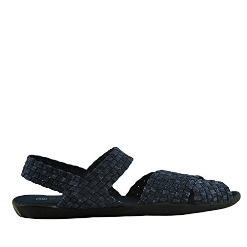 Bernie Mev Balmy Womens Casual Criss Cross Strap Sandal Jeans