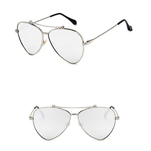 La De GAOYANG del C Gafas Gafas Personalidad Poligonales De Sol Metal Marco Salvajes De del Gafas De Color Sol Metal Retro B del Sol 55zrqpwB