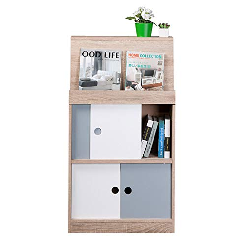 - Wuyou Bookcases Independent White Bookcase, 2-Floor Wooden Bookcase Display Storage Room Family Storage Unit Cabinet (60x25x109cm)