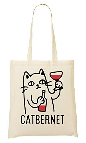 Tout Fourre Provisions Sac Sac Catbernet Cat Funny À Drinking Wine Cabernet waSqT