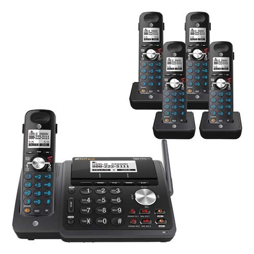 AT&T TL88102BK 2-line answering System with 4 Handsets (TL88002BK) Black