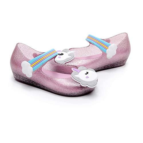 ragazzi nastro Sandali motivo e a ragazze scivolo bambini e Decor a con Unisex in chiusura nylon anti per unicorno Belle scarpe per HwgqnfA