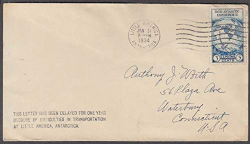 Byrd Expedition II Little America cancel postal cover