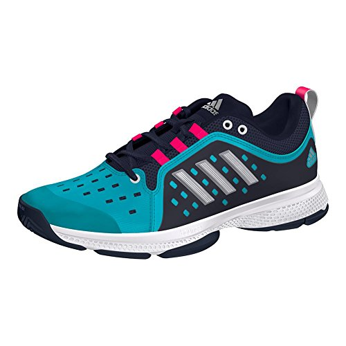 adidas Women's Barricade Classic Bounce Tennis Shoe, Legend Ink/Matte Silver/hi-res Aqua, 6.5 M US