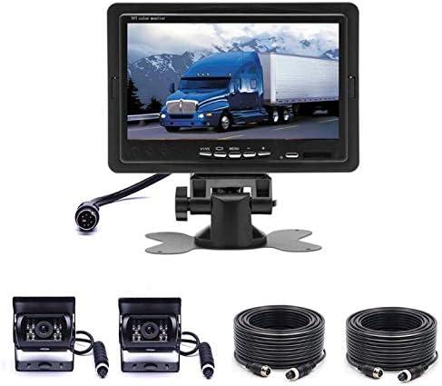 車のカメラシステムキット7インチ液晶モニターIP68付きカメラリバースカメラを逆転防水ナイトビジョンリアカメラ