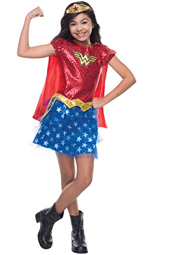 Rubie's Costume DC Superheroes Wonder Woman Sequin Child Costume, Medium ()