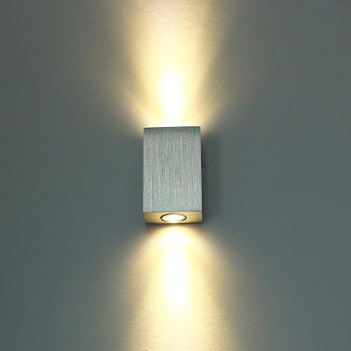 MVpower LED Wandlampe Wandleuchten 2W,6W,8W,18W (Warmweiß 2W)