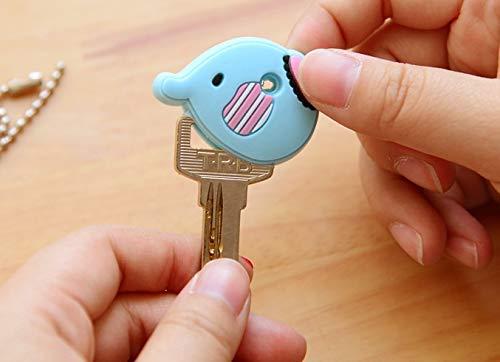 3bf8d03f2a12 Amazon.com  NATTEL Anime Silicone Cat Key Cap Minion Key Chain Women Bag  Charm Key Holder Stitch Key Ring Owl Keychain Mickey Hello Kitty Key Cover   Home ...
