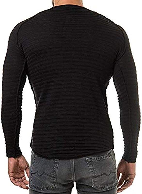 Męska zima Basic koszulka z długim rękawem ciepły sweter Fashion elegancka bluza moda normalny lakier z długim rękawem okrągły dekolt topy: Odzież