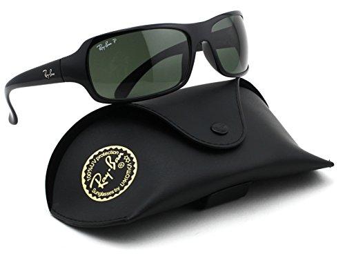 Ray-Ban RB4075 Polarized Unisex Sunglasses (Black Frame / Polarized Green Classic Lens 601/58, - Ban Polarized Ray Caravan
