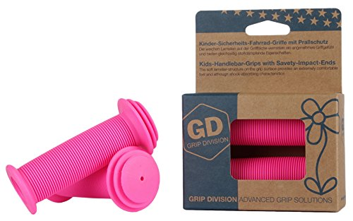 - GD - Grip Division Kids Bike Grips with Impact Protection for Balance Bikes, Scooters, and Childrens BMX Bicycle Handlebars (Pair) (Neon Pink)