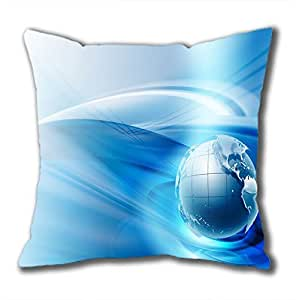 Attractive designed square pure blue pillowcases with the classic series on sale