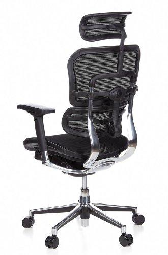 Ergohuman Bürostuhl mit Netz-Stoff, schwarz - 10
