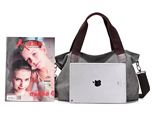 Crossbody Bag Bag Women Grey Tote Vintage Shoulder Handbags Canvas Bageek Bag Canvas wI4qzZ