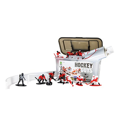 Kaskey Kids Blackhawks vs Red Wings NHL Hockey Guys Action Figure Set - 27 Pieces and Accessories