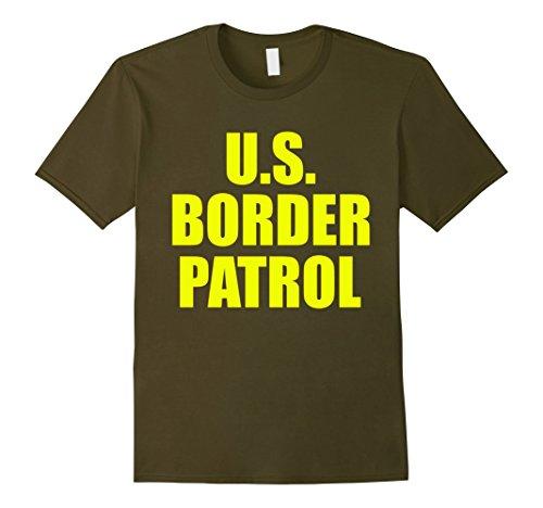 Border Patrol Halloween Costumes (Mens American Border Patrol costume Shirt 2XL Olive)